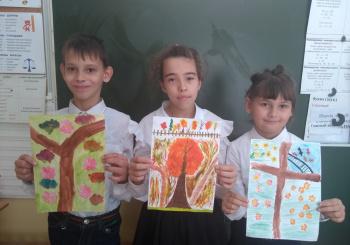 Рисунки от 3 класса по итогам поездки в Ботанический сад