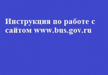 Инструкция по работе с сайтом www.bus.gov.ru