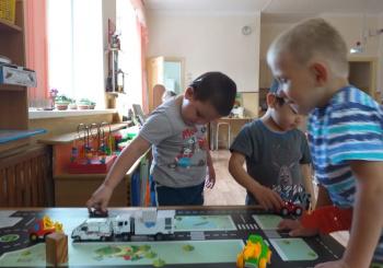 """Игра с дошкольниками на тему """"Безопасная дорога"""""""