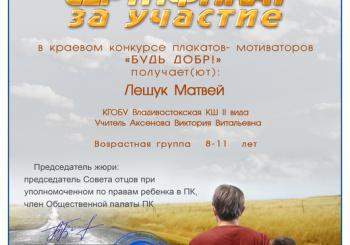 "Краевой конкурс плакатов -мотиваторов ""БУДЬ ДОБР!"""