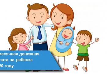 Ежемесячная выплата семьям с детьми